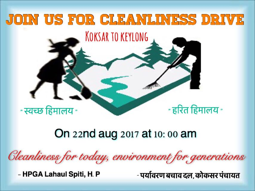 Cleanliness drive from Koksar to Keylong